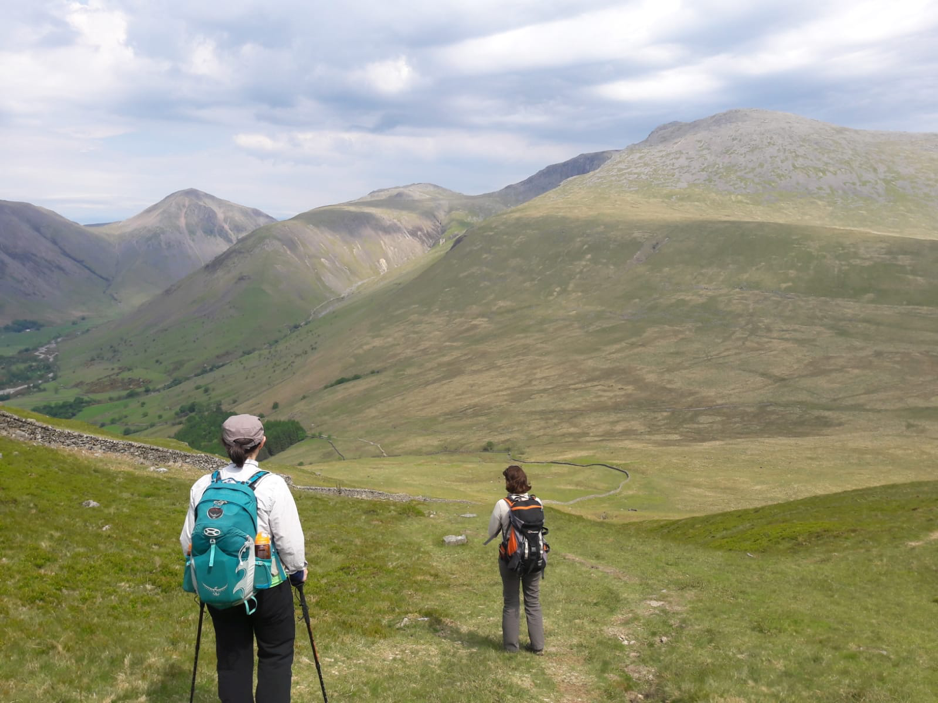 Members wlaking from Nether Wasdale to Wasdale Head