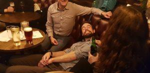 Joe and the beard at the pub sideways